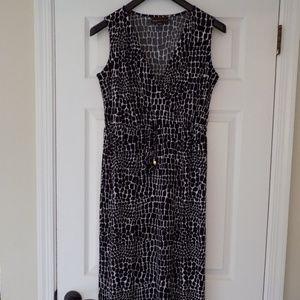 Dana Buchman black/white snakeskin long dress